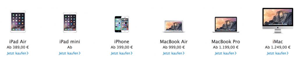 Ratenkauf bei Apple